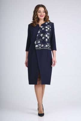Платье ELGA 01-722 синий+синий