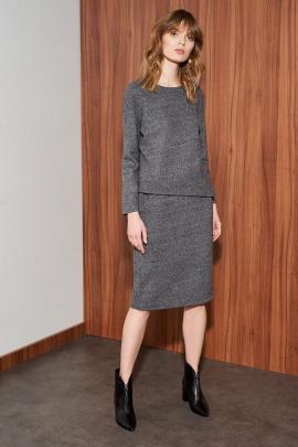 Платье Nelva 51041 серый_меланж