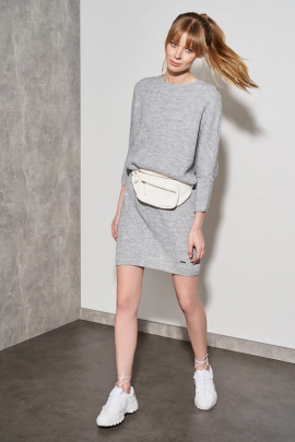 Платье Nelva 51047 светло-серый_меланж