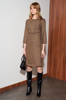 Платье Nelva 51065 коричневый_меланж