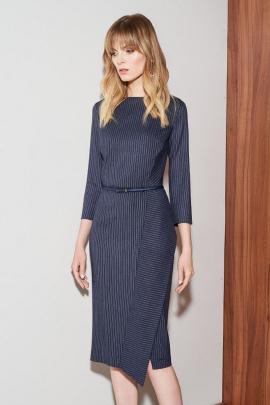 Платье Nelva 51068 темно-синий+полоска