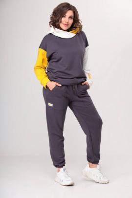 Спортивный костюм Danaida 2052-1 графит/горчица/молочный