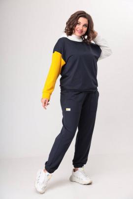 Спортивный костюм Danaida 2052 графит/горчица/молочный