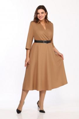 Платье Karina deLux М-9957 кэмел