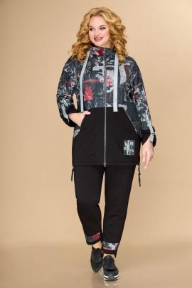 Женский костюм Svetlana-Style 1806 черный+принт