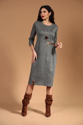 Платье Твой имидж 1310 серый