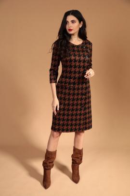 Платье Твой имидж 1447 коричневый