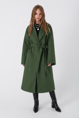 Пальто PiRS 3408 серо-зеленый
