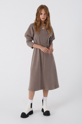 Платье PiRS 3442 серо-коричневый