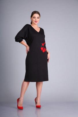 Платье Andrea Style 0423 черный