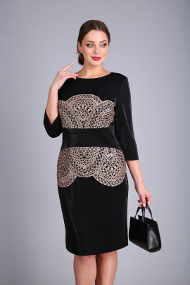 Платье Andrea Style 0424 черный