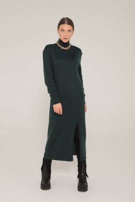 Платье Romgil ТЗ646Ш темно-зеленый