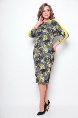 Платье Michel chic 2077 серый,желтый