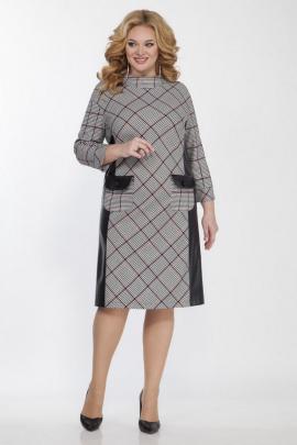 Платье Matini 3.1128 клетка_бордо