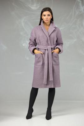 Пальто Angelina & Сompany 604 розово-сиреневый