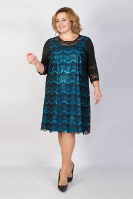 Платье TrikoTex Stil 1864 черный/голубой