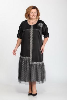Платье Djerza 1449 черный+серый