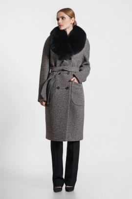 Пальто Gotti 153-4м бежево-коричнево-чёрный