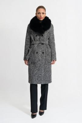 Пальто Gotti 153-7м серо-черная