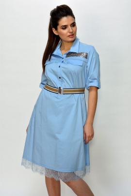 Платье Faufilure outlet С477 голубой