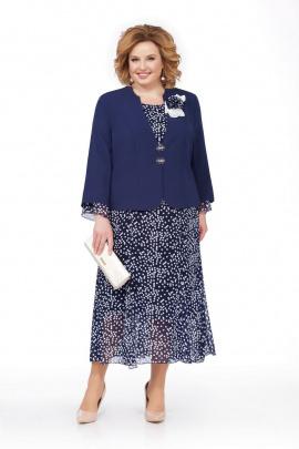 Жакет, Платье Pretty 848 синий