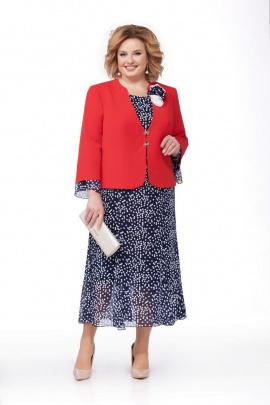 Жакет, Платье Pretty 848 синий+красный