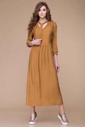 Платье Линия Л Б-1709 горчица