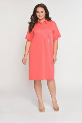Платье Luana Plus 397 лосось