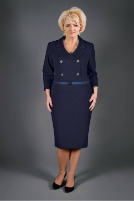 Платье Manklover 1046 темно-синий