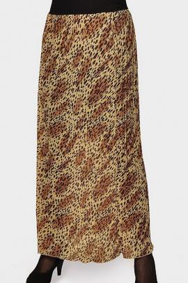 Юбка Klever 0101 коричневый_леопард