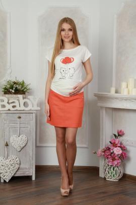 Блуза Lucky mum 105 оранжевый