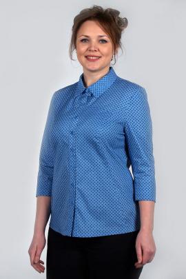 Рубашка Zlata 4186А василек