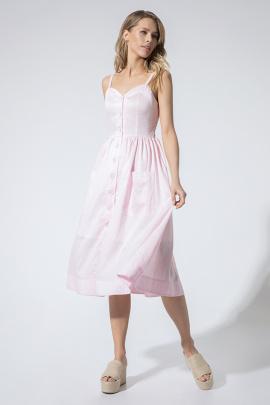 Платье LaVeLa L1967 розовый/полоска