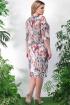 Платье Lenata 11897 коричневые-цветы