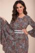 Платье Teffi Style L-1393 коричневый
