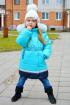 Пальто Lona 7210И голубой