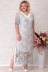 Платье Aira Style 687 голубой+розовый