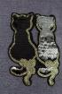 Блуза Левлада 203 Черный,серый
