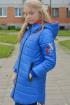 Пальто Lona 7309И василек