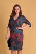 Платье Viola Style 0867 цветной_принт
