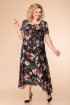 Платье Romanovich Style 1-1332 черный_мультиколор