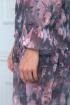 Платье Anelli 727 фиолетовый+цветы