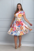 Платье Anelli 298 молоко-цветы