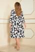 Платье Lady Style Classic 1533/1 т.синий-белый