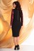 Платье Мода Юрс 2068 черный+красный
