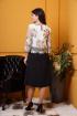 Платье Anastasia 370 черный,молочный,цветной