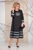 Платье Ивелта плюс 1670 черно-белое