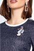 Блуза,  Юбка Lissana 3135-1 темно-синий
