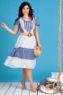 Платье Мода Юрс 2130 синий+белый