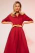 Платье LaVeLa L10119 бордовый